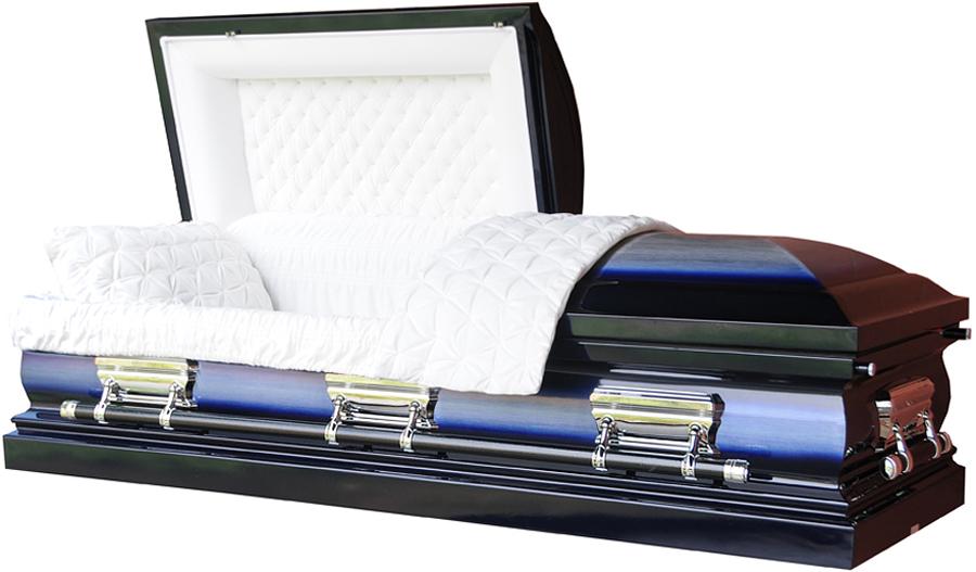 best price caskets 8381 18 gauge steel casket dark blue