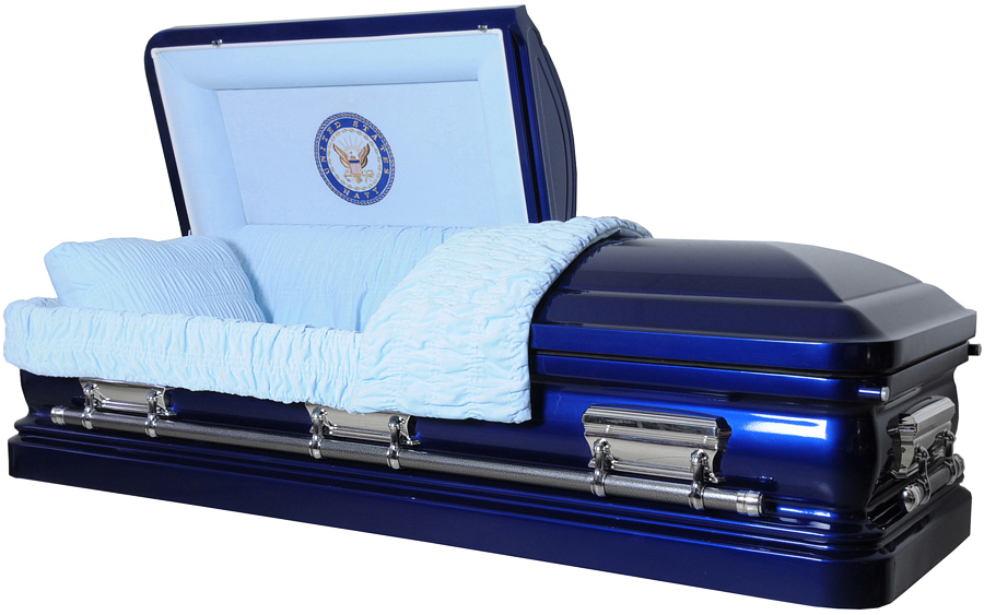 Best Price Caskets 3529 Navy Casket 18ga