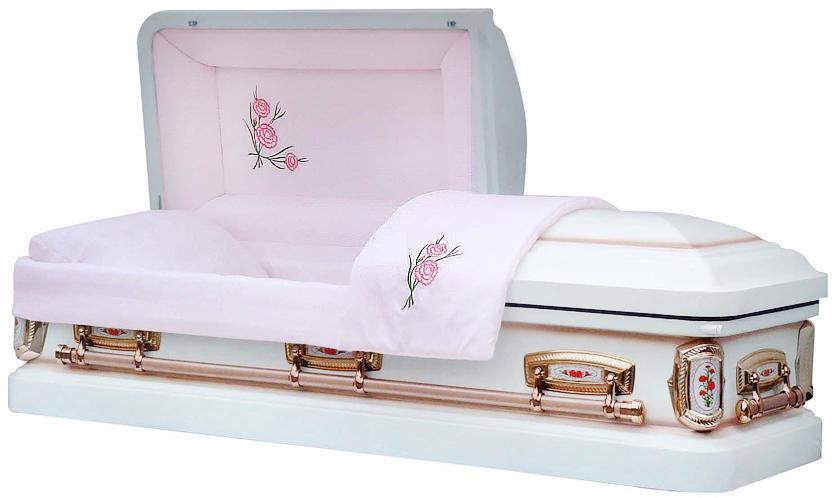 Best Price Caskets 8009 Carnation Casket 18ga Lt Pink
