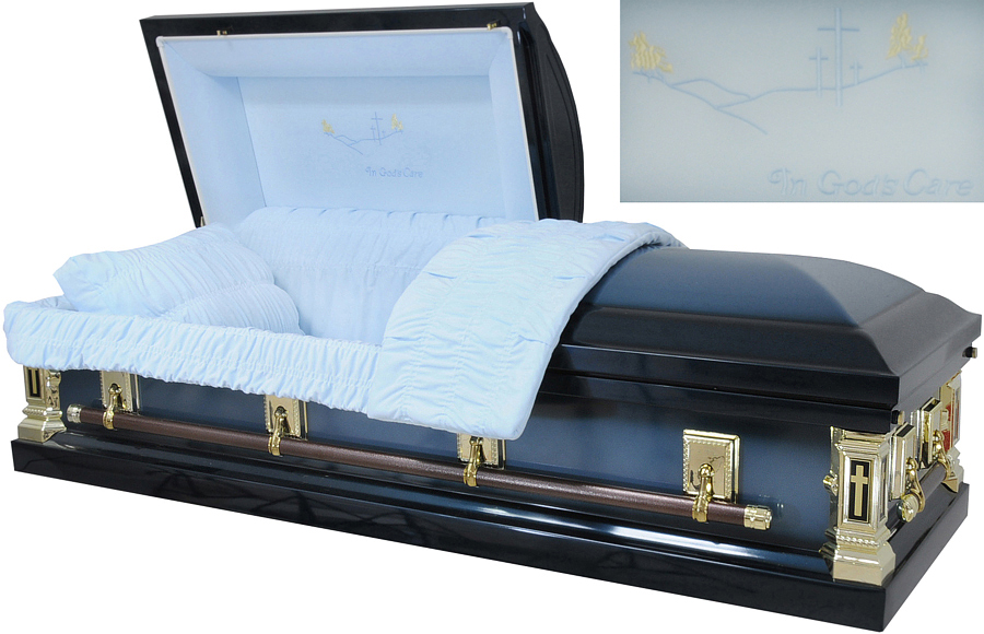 best price caskets 8369 18ga in gods care casket dark
