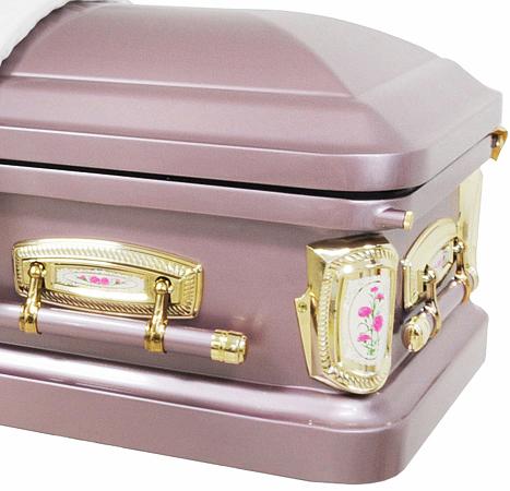 Best Price Caskets 8378 Carnation Casket 18ga Lavender