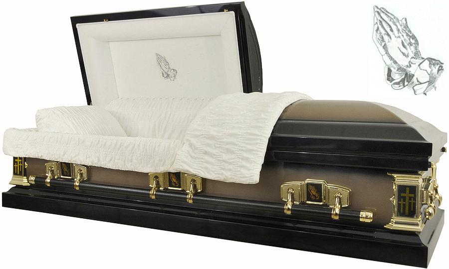 best price caskets 8384 praying hands casket 18ga dark
